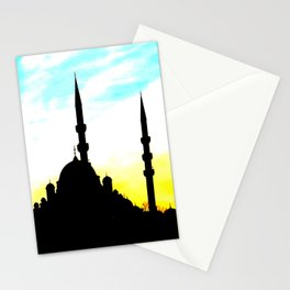 mosque in Istanbul Stationery Cards