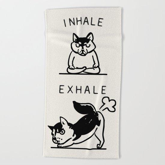 Inhale Exhale Husky Beach Towel