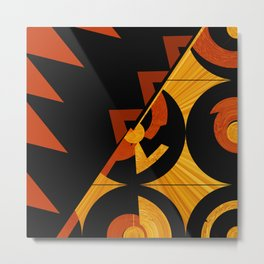 Art Deco Square Two abstract art by Ann Powell  Metal Print