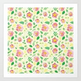 California Rose Pattern Art Print