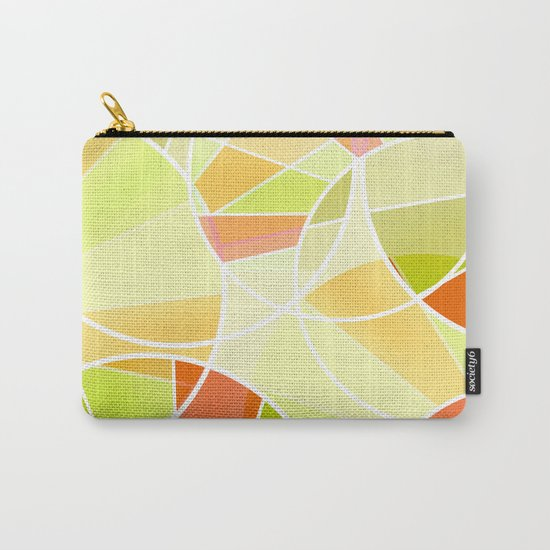 Yellow-red green summer pattern . Carry-All Pouch