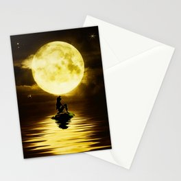 Beauty Mermaid Starry Night Stationery Cards