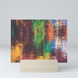 Colorful Scratches on Canvass Mini Art Print