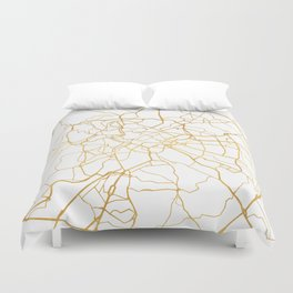 ROME ITALY CITY STREET MAP ART Duvet Cover