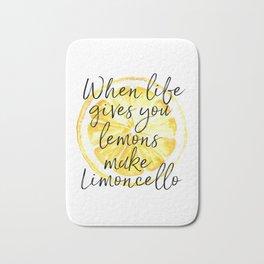 When Life Give You a Lemons Make Limoncello, Kitchen Decor, Wall Art, Hme Decor Bath Mat