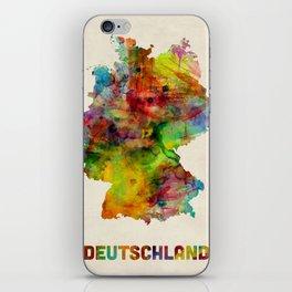 Germany Watercolor Map (Deutschland) iPhone Skin