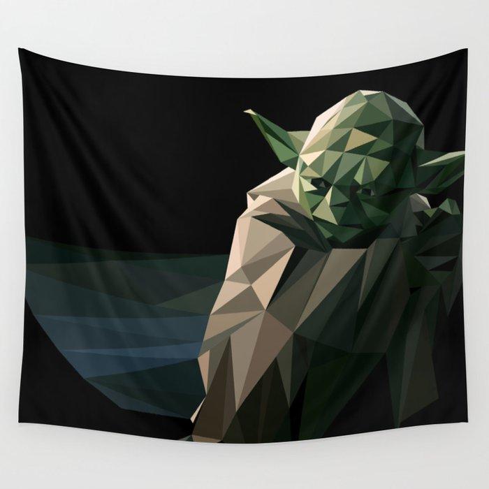Geometric Yoda Wall Tapestry