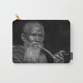 Portrait of an Elderly Man Smoking Pipe Carry-All Pouch