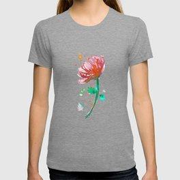 Warm Watercolour Fiordland Flower T-shirt