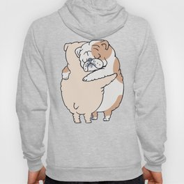 English Bulldog Hugs Hoody