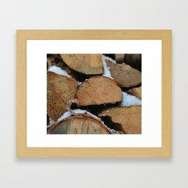 Firewood Framed Art Print