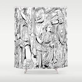 stencil frieze children Shower Curtain
