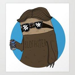 Slothster Art Print