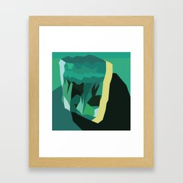 Emerald Gem Framed Art Print