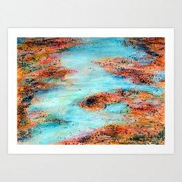Salt Flats 1 Art Print