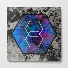 TEXtured HEX - Abstract, geometric, textured artwork Metal Print