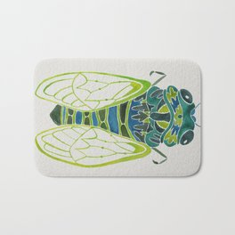 Blue Cicada Bath Mat