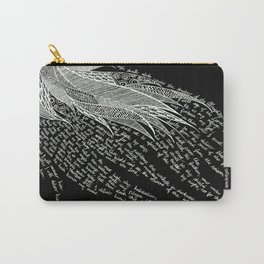 Psalm 91 - White on Black Carry-All Pouch