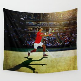 Novak Djokovic Tennis Wall Tapestry