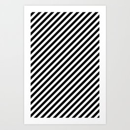 Classic Stripes Black + White Art Print