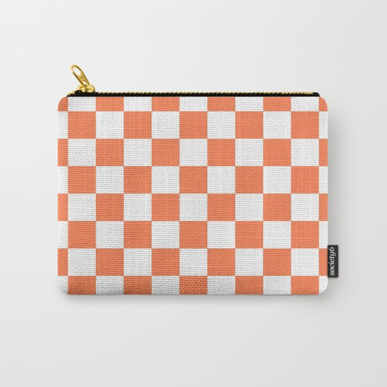 Checker (Coral/White) Carry-All Pouch