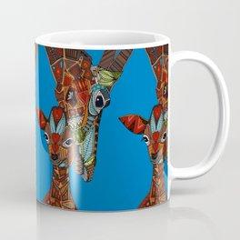 giraffe love blue Coffee Mug