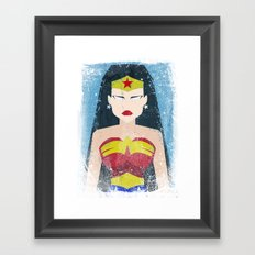 Wonder Grunge Woman Framed Art Print