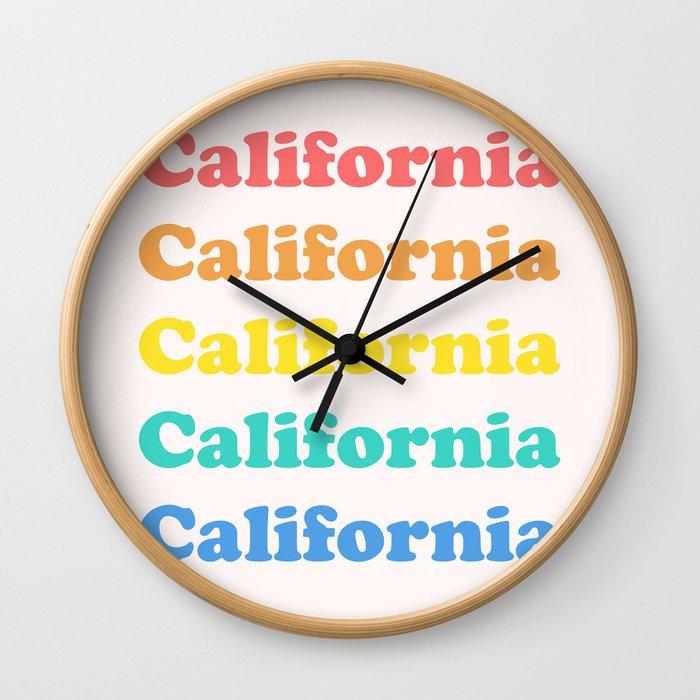 Retro California Wall Clock