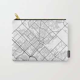 Guelph Map, Canada - Black and White Carry-All Pouch