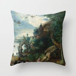 "Pieter Bruegel (also Brueghel or Breughel) the Elder ""The Temptation of Saint Anthony"" Throw Pillow"