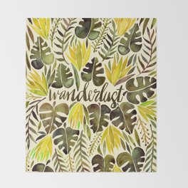 Tropical Wanderlust – Yellow & Olive Palette Throw Blanket