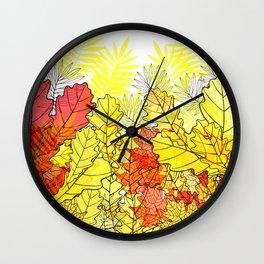 Gold autumn. Wall Clock