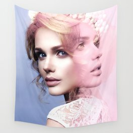 Two faces Wall Tapestry
