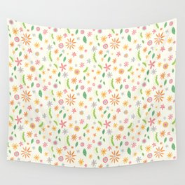 Colourful Daisies Wall Tapestry