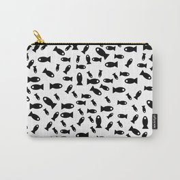 Black fishes Carry-All Pouch