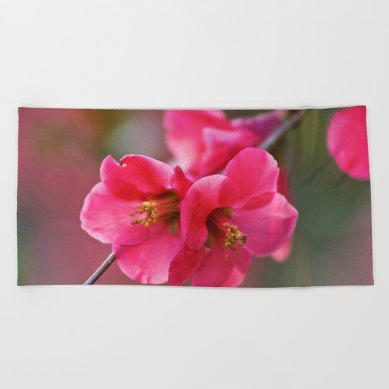 Two Flowers Beach Towel