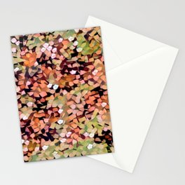 Micro Confetti Peach Lime Stationery Cards