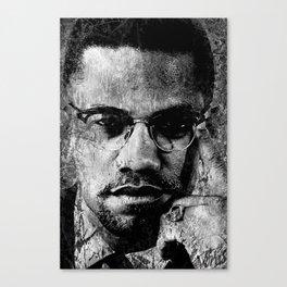 MALCOLM X (BLACK & WHITE VERSION) Canvas Print