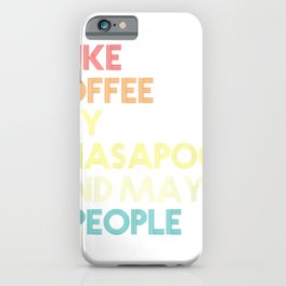 Lhasapoo Dog Owner Coffee Lovers Quote Gift Vintage Retro T-Shirt iPhone Case