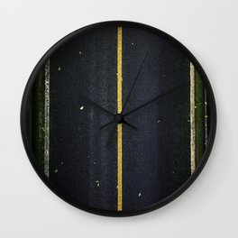 The lonely road Wall Clock