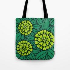 Spring Green Floral pattern Tote Bag