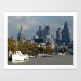 Thames: City of London Art Print