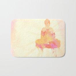 Buddha art illustration watercolor Bath Mat