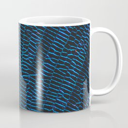 Dragonfly shiny vibrant blue wings Coffee Mug
