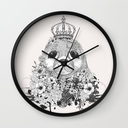 little seal with crown Wall Clock