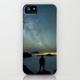 Milky way man iPhone Case