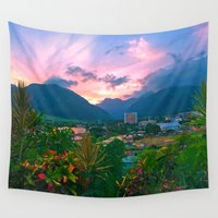 supreme Wall Tapestries featuring Cloud Supreme  by Niko