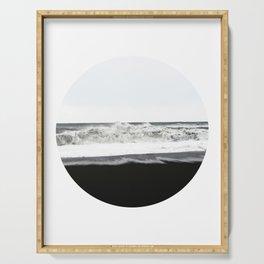 Black Sand Circular Landscape Serving Tray