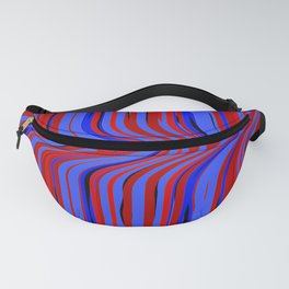 red and blue flowing Fanny Pack
