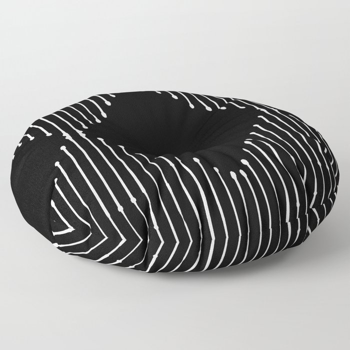 Geo / Black Floor Pillow